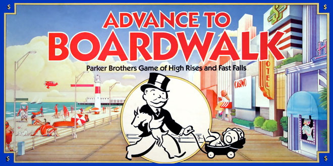 Advance to Boardwalk Boardgame Monopoly